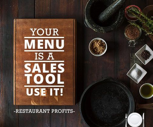 Using Your Menu As A Sales Tool